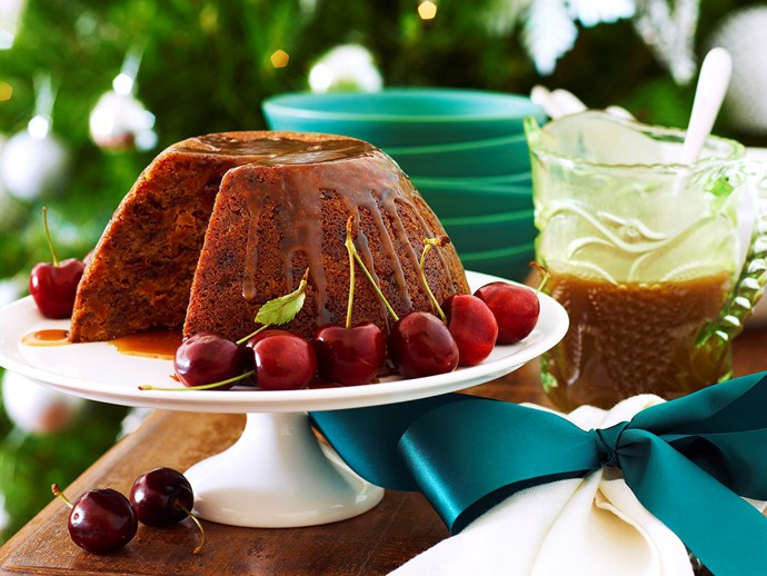 "[Julie Goodwin's last-minute Christmas pudding with caramel brandy sauce](http://www.foodtolove.com.au/recipes/last-minute-christmas-pudding-with-caramel-brandy-sauce-23631|target=""_blank""