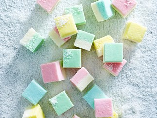 Pretty pastel coconut ice
