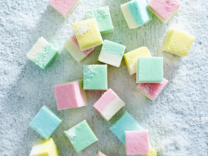 "**[Pretty pastel coconut ice](https://www.womensweeklyfood.com.au/recipes/pretty-pastel-coconut-ice-29582|target=""_blank"")**  Pretty pastel coconut ice! A beautifully delicious sweet treat everyone will love!"