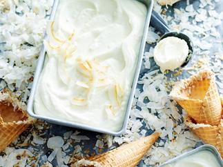 No-churn coconut ice-cream