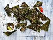 Toasted nori chips