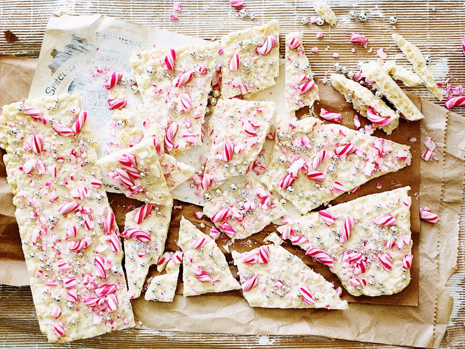 "**[White choc-mint candy cane bark](https://www.womensweeklyfood.com.au/recipes/white-choc-mint-candy-cane-bark-29603|target=""_blank"")**  This festive treat pairs minty candy canes and creamy white chocolate with crispy rice bubbles to create the ultimate Christmas gift for loved ones."