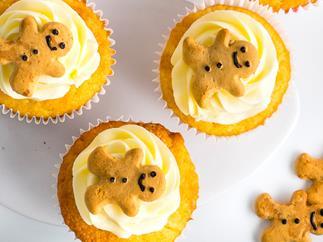 Gingerbread men cupcakes