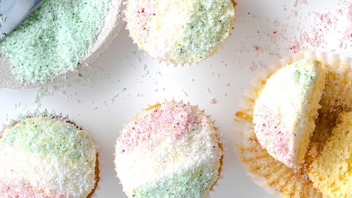 Christmas snow cupcakes