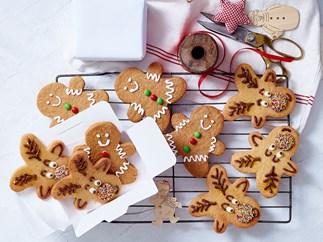 Reindeer and gingerbread men Christmas cookies