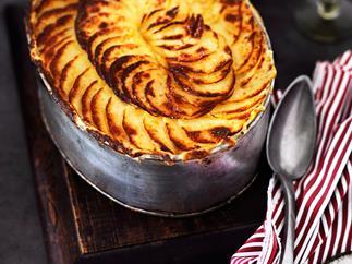 Potato and mince bake