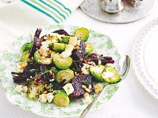 Balsamic beetroot with Brussels sprouts