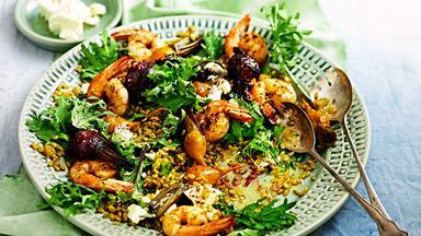 Farro, beetroot & kale salad