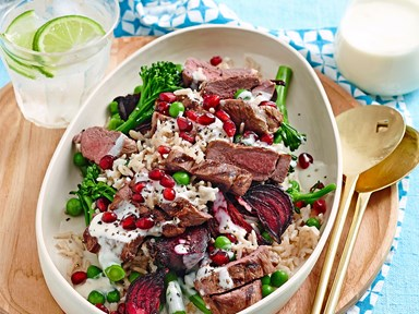 Lamb & beetroot rice salad