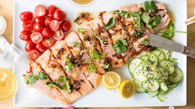 Zesty salmon platter