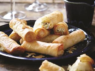Leek and feta filo cigars