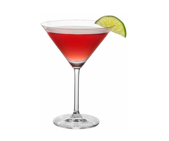 Classic cosmopolitan cocktail