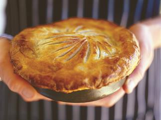 Coorong Angus beef pie with red wine, fennel and green olives