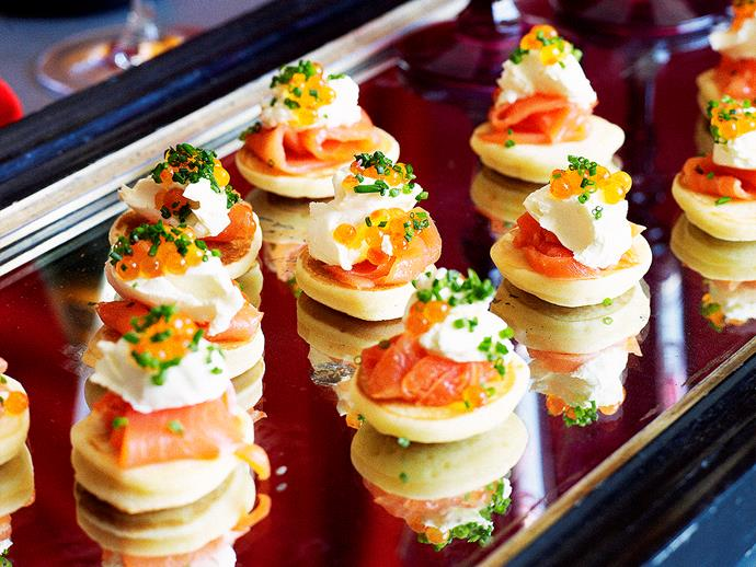 """[Blinis with smoked salmon](http://www.foodtolove.com.au/recipes/blinis-with-smoked-salmon-14419