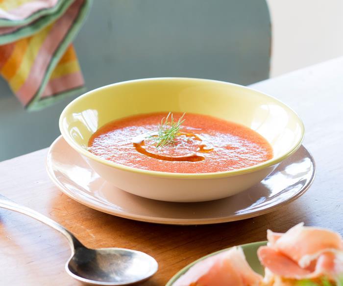 Cooling gazpacho