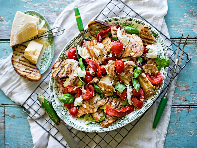 Barbecue chicken panzanella