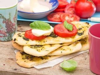 Herb & garlic slipper bread
