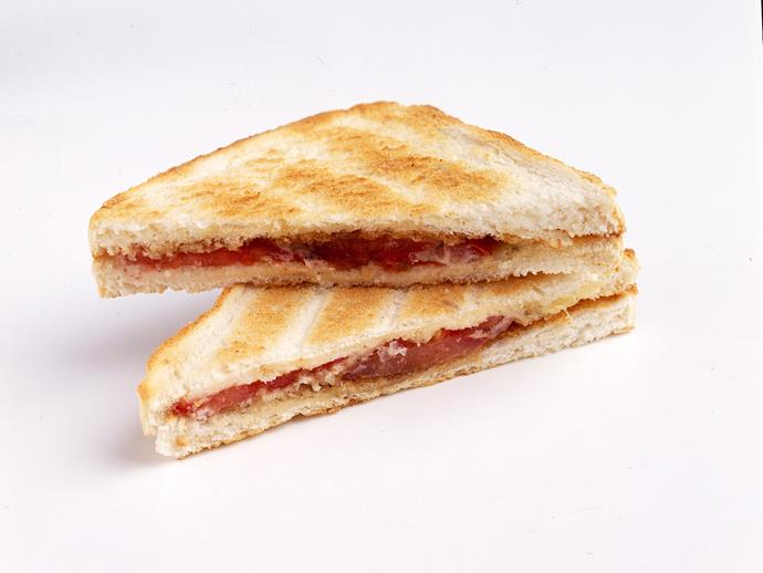 """**[Ham toastie](https://www.womensweeklyfood.com.au/recipes/ham-toastie-28490