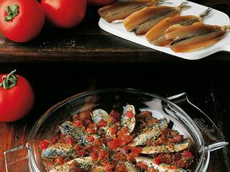 Sardine and tomato salad