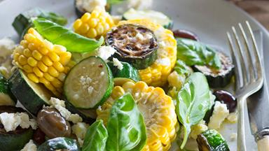 Summer corn & courgette salad