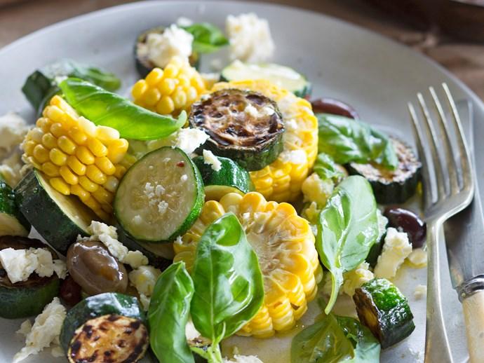 Summer corn & courgette salad