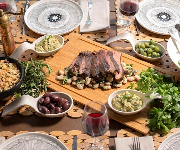 Miguel's Harissa Lamb And Baba Ganoush Recipe