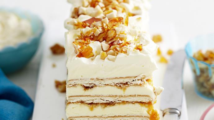 Praline biscotten torte