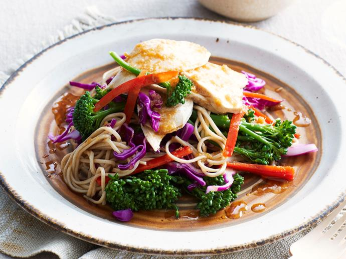 "**[Chicken and soba noodle salad](https://www.womensweeklyfood.com.au/recipes/chicken-and-soba-noodle-salad-28554|target=""_blank"")**  A light, tangy, and super simple dinner full of Asian flavours. Perfect for a healthy midweek meal!"