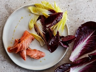 Confit ocean trout with chicory salad
