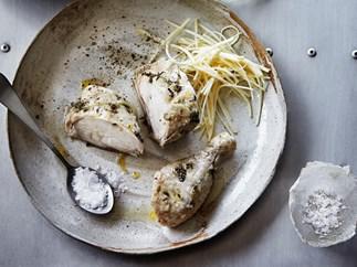 Succulent chicken with celeriac remoulade