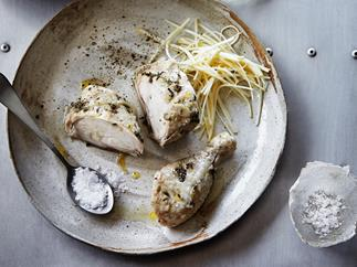 Succulent chicken with celeriac remoulade
