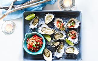 Watermelon & lime oysters