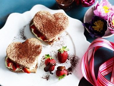 Choc berry shortcakes