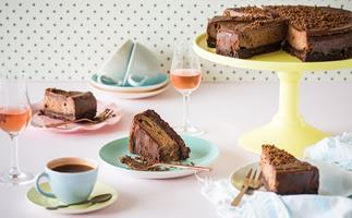 Tim Tam espresso martini chocolate cheesecake