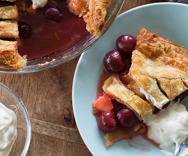 Peach and cherry pie recipe | Food To Love