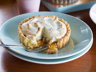 Tangy lemon meringue pies