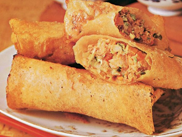 "A delicious [***Chinese spring roll recipe***](https://www.womensweeklyfood.com.au/recipes/spring-rolls-1468|target=""_blank""), straight from The Australian Women's Weekly cookbook archives."