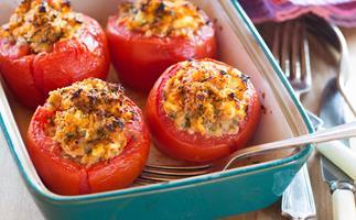 Stuffed herb tomatoes