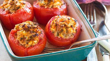 Stuffed herb tomatoes