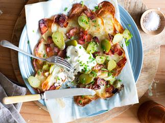 Potatoes with bacon