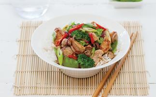Pork Stir-Fry with Rice