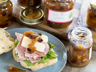 The very best peach chutney