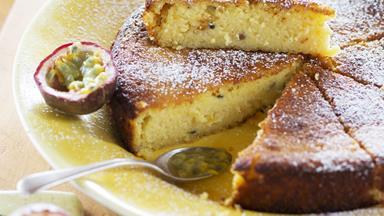 Passionfruit, lemon and yoghurt cake
