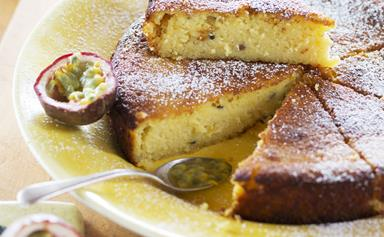 Passionfruit, lemon and yoghurt cake