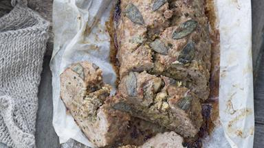 Pork meatloaf with green peppercorns