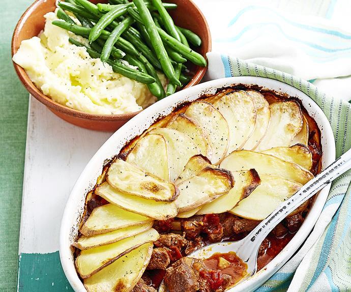 Sunday lamb roast and mint pie