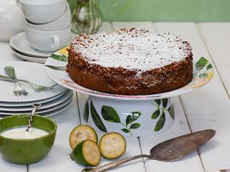 Feijoa lumberjack cake