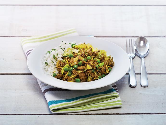 "This [curried mince recipe](https://www.womensweeklyfood.com.au/recipes/curried-mince-with-cabbage-and-rice-1501|target=""_blank"") is deliciously fragrant. Serve with herbed rice or noodles for a stand-out dish"