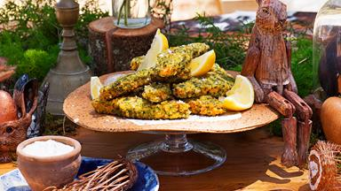 Monster fish fingers with simple tartare