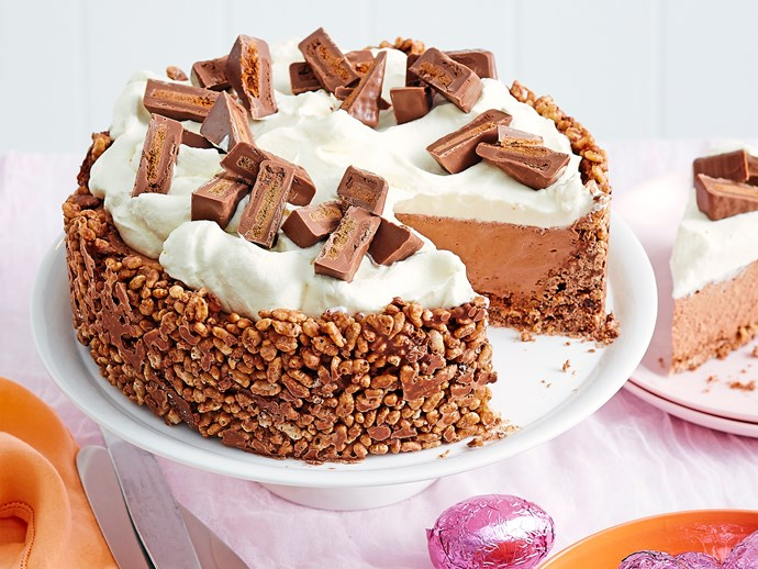 Tim Tam crackle cheesecake